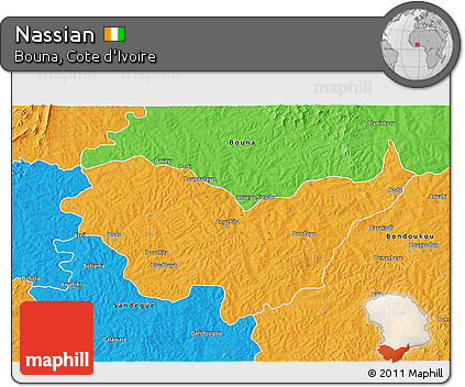 Free Political 3D Map of Nassian