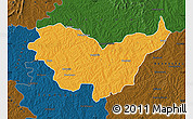 Political Map of Nassian, darken