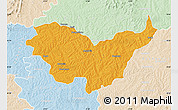 Political Map of Nassian, lighten