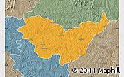 Political Map of Nassian, semi-desaturated