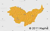 Political Map of Nassian, single color outside