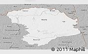 Gray Panoramic Map of Bouna