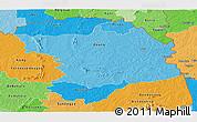 Political Shades Panoramic Map of Bouna