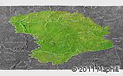 Satellite Panoramic Map of Bouna, desaturated