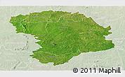Satellite Panoramic Map of Bouna, lighten