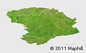 Satellite Panoramic Map of Bouna, single color outside