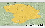 Savanna Style Panoramic Map of Bouna