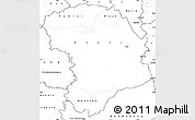 Blank Simple Map of Bouna