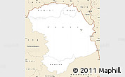 Classic Style Simple Map of Bouna