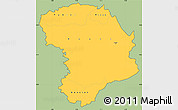 Savanna Style Simple Map of Bouna, cropped outside