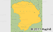 Savanna Style Simple Map of Bouna