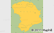 Savanna Style Simple Map of Bouna, single color outside
