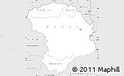 Silver Style Simple Map of Bouna