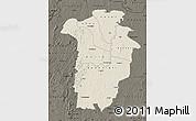 Shaded Relief Map of Boundiali, darken