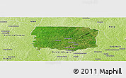 Satellite Panoramic Map of Foumbolo, physical outside