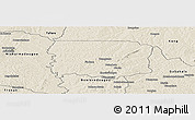 Shaded Relief Panoramic Map of Foumbolo