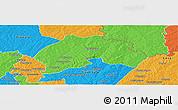Political Panoramic Map of Ferkessedougou
