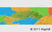 Satellite Panoramic Map of Ferkessedougou, political outside