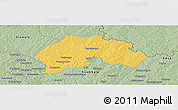 Savanna Style Panoramic Map of Ferkessedougou