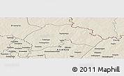 Shaded Relief Panoramic Map of Ferkessedougou