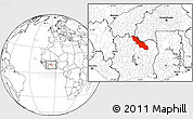 Blank Location Map of Ferkessedougou