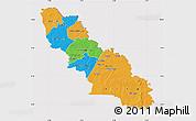 Political Map of Ferkessedougou, cropped outside