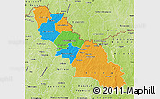 Political Map of Ferkessedougou, physical outside