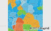Political Map of Ferkessedougou, political shades outside