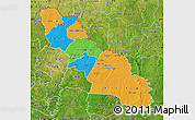 Political Map of Ferkessedougou, satellite outside