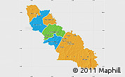 Political Map of Ferkessedougou, single color outside