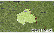 Physical 3D Map of Ouangolodougou, darken