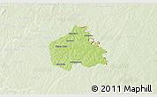 Physical 3D Map of Ouangolodougou, lighten