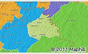Physical 3D Map of Ouangolodougou, political outside