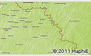 Physical 3D Map of Ouangolodougou