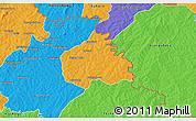 Political 3D Map of Ouangolodougou