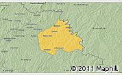 Savanna Style 3D Map of Ouangolodougou