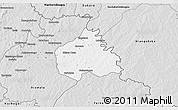 Silver Style 3D Map of Ouangolodougou