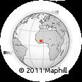 Outline Map of Ouangolodougou