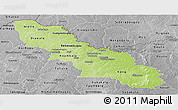 Physical Panoramic Map of Ferkessedougou, desaturated