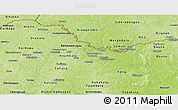 Physical Panoramic Map of Ferkessedougou
