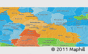 Political Shades Panoramic Map of Ferkessedougou