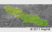 Satellite Panoramic Map of Ferkessedougou, desaturated