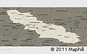Shaded Relief Panoramic Map of Ferkessedougou, darken
