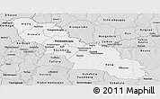 Silver Style Panoramic Map of Ferkessedougou