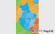 Political Shades 3D Map of Korhogo
