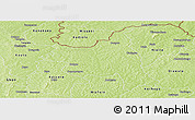 Physical Panoramic Map of M'bengue