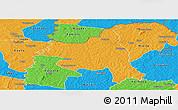 Political Panoramic Map of M'bengue