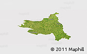 Satellite Panoramic Map of M'bengue, cropped outside