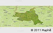 Satellite Panoramic Map of M'bengue, physical outside