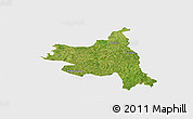 Satellite Panoramic Map of M'bengue, single color outside